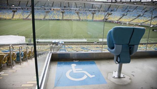 Estádio da final da Copa, o Maracanã tem 627 lugares para pessoas com mobilidade reduzida, 111 para cadeirantes e 101 para obesos | Foto: Divulgação/Maracanã