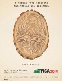 Logotipo que representa a edição do Fica deste ano, composta por um tronco de árvore que remete às digitais humanas