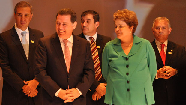 Em Goiânia, Dilma Rousseff é enaltecida pelo governador Marconi Perillo