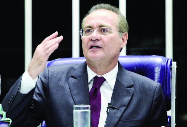 Presidente do Congresso, Renan Calheiros: senador se comporta como monarca levando neto ao Senado | Foto: Pedro França