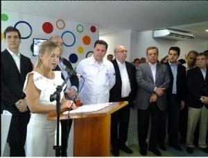 """Diretora-geral do HMI, médica Rita de Cássia Leal: """"""""O projeto remodelou e modernizou a antiga recepção, com foco na humanização"""""""