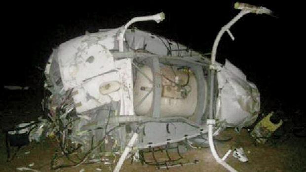 Destroços do Esquilo acidentado em Aruanã, cuja queda matou o ex-jogador Fernandão mais 4 ocupantes