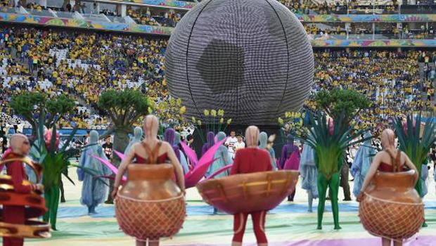 Cerimônia de abertura da Copa lembra cultura e riquezas naturais do Brasil