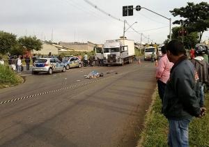 Registro do dia do acidente que vitimou Wladimir Lopes, de 30 anos, e sua esposa, Antônia Dulcimar, de 28 anos | Foto: Jucelino de Souza Noleto/ Mais Goiás