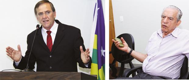 Antônio Gomide e Iris Rezende: juntos em uma chapa? Pouco provável que isso aconteça   Fotos: Fernando Leite/Jornal Opção