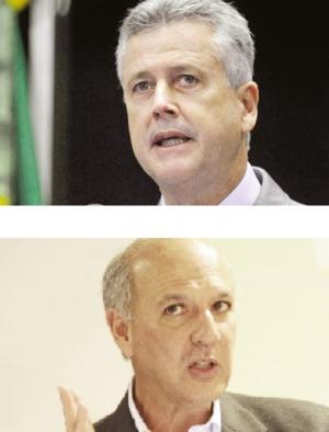 Rodrigo Rollemberg e José Roberto Arruda: os dois devem atropelar Agnelo Queiroz | Fotos: Geraldo Magela/veja.abril.com.br
