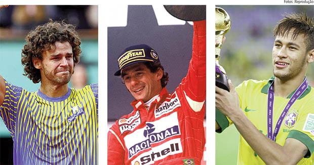 Gustavo Kuerten e Ayrton Senna viraram mitos nacionais por serem vencedores; Neymar seria o salvador da Pátria da vez. O brasileiro, que nem gosta tanto de futebol assim, precisa é de saciar sua fraqueza por conquistas