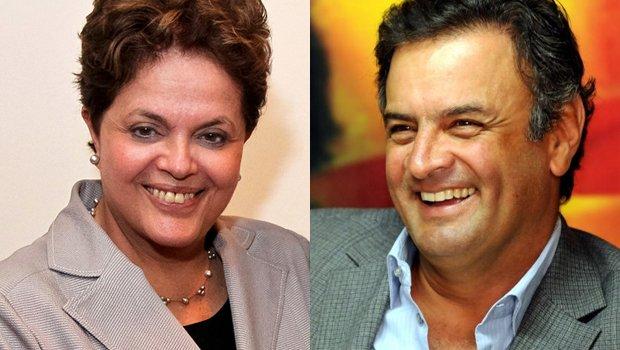 Dilma cai em pesquisa de intenção de votos e Aécio cresce 1,6%
