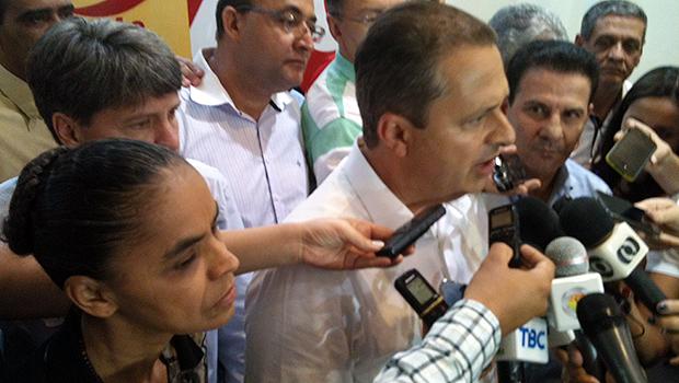 Em Goiânia, presidenciável Eduardo Campos reafirma que Vanderlan vai acabar com polarização Iris e Marconi