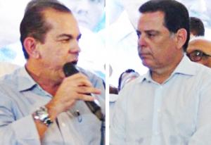 Prefeito Fernando Vasconcelos (à esquerda), do PMDB: . Foto: apoio é espontâneo. Foto: Reprodução/Goiás Interior