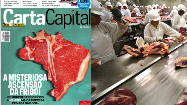 Revista CartaCapital traz como manchete o mistério da ascensão do frigorífico Friboi, oriundo de Anápolis
