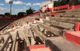 Reforma do estádio| Foto: Fernando Vasconcelos
