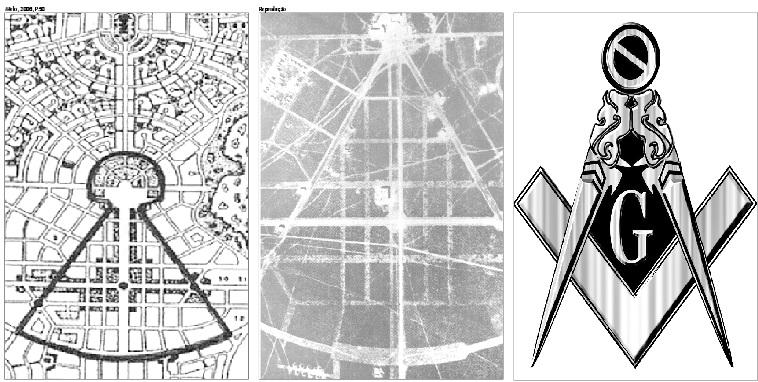 Planta urbanística de Goiânia  pode conter símbolo maçom