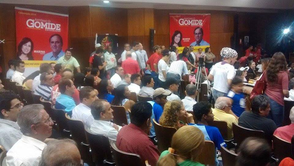 Em convenção do PT, Gomide afirma que Celg e Saneago serão prioridades, caso eleito