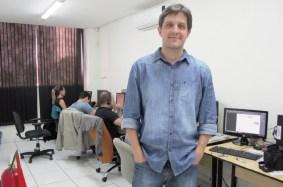 """Leandro Martins: """"Vamos expor nosso sistema, e como é voltado  para quem quer empreender, o enxergamos como uma excelente oportunidade para desenvolvermos contatos""""   Edmar Wellington/Sebrae"""