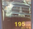 Uma camionete foi flagradatrafegando acima do permitido