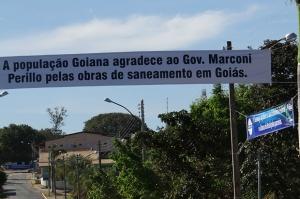 Foto: MPGO / Uma das faixas afixadas no município de São Domingos