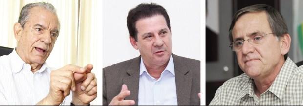 Iris Rezende, Vanderlan Cardoso e Antônio Gomide: opositores saberão usar o tempo no rádio e na TV para reverter o favoritismo que as pesquisas estão dando cada vez mais a Marconi Perillo?