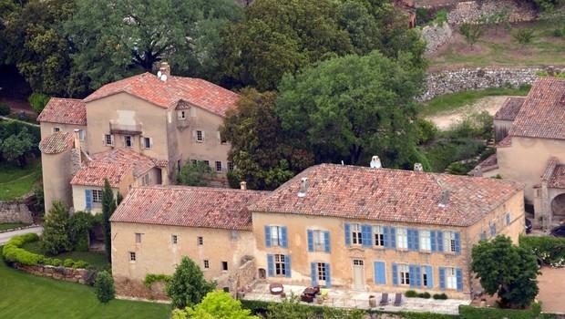 Imagem aérea de Château Miraval, onde ocorreu a cerimônia