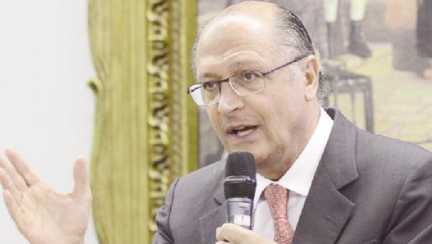 Tucano Geraldo Alckmim: pesquisas dão sua vitória no 1º turno em S. Paulo. Foto: Antonio Cruz/ Agência Brasil
