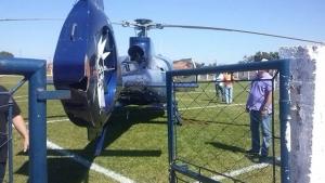 Durante o pouso de emergência, a hélice da aeronave ficou danificada|Foto: Reprodução |Mais Goiás