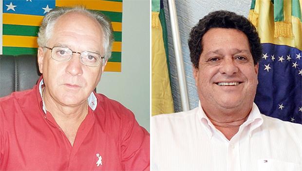 Zé Neto, de Simolândia (à esquerda), e Agnaldo de Ramos, de Iaciara são parentes de Júnior Friboi. Mas e apoiam Marconi Perillo   Fotos: Divulgação