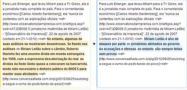 Grife em amarelo mostra trecho incluso pelo IP do Palácio do Planalto | Foto: Reprodução/Wikipédia