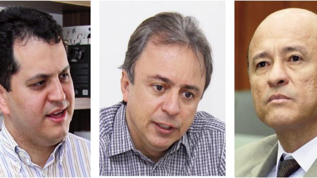 Agenor Mariano, Barbosa Neto e Lívio Luciano: os peemedebistas  dizem que, na hipótese de segundo turno, a disputa será plebiscitária