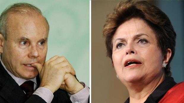 Esquerda, o ministro da Fazenda, Guido Mantega, e a direita, a presidente Dilma Rousseff Foto: Dilvugação