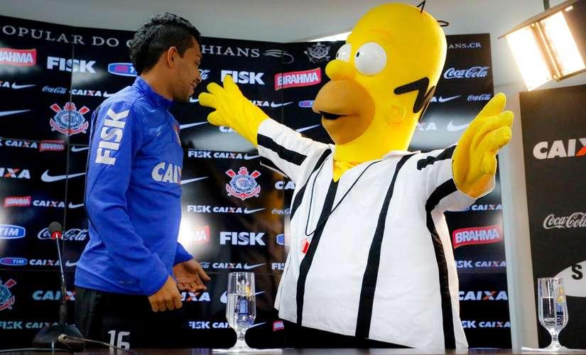 Os Simpsons agora torcem para o Corinthians