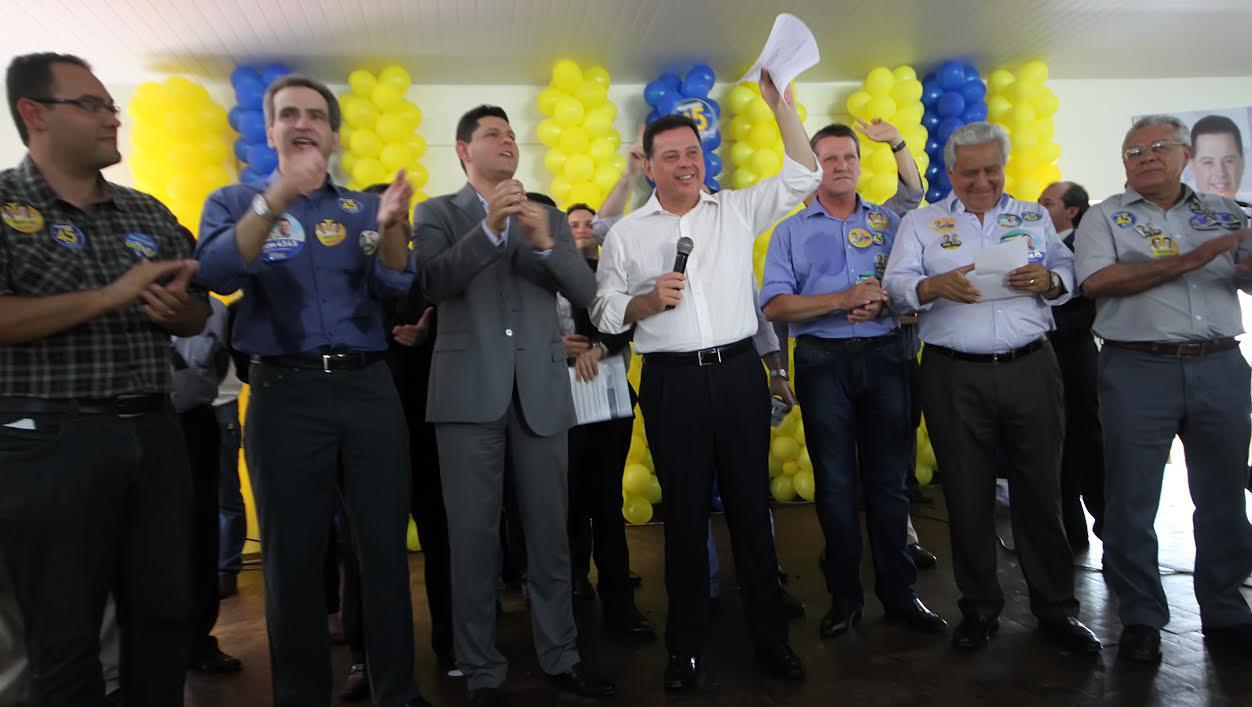 Marconi Perillo recebe o apoio de gerentes meritocratas, em Goiânia