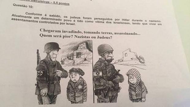 Professor é demitido após colocar questão sobre quem seria pior: nazistas ou judeus