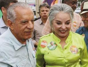 Iris Rezende e Iris Araújo: casal personaliza a derrocada do PMDB, o maior partido de oposição no Estado