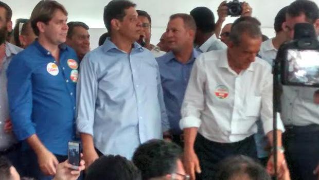 Iris Rezende anunciou que, caso seja eleito, Ronaldo Caiado será secretário de Segurança Pública | Foto: Walacy Neto / Jornal Opção