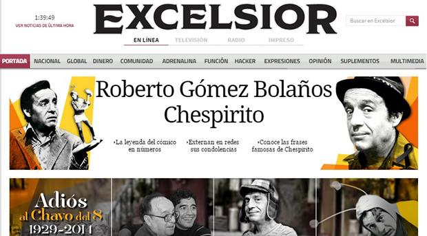 2056 - Chespirito (jornal Excelsior)