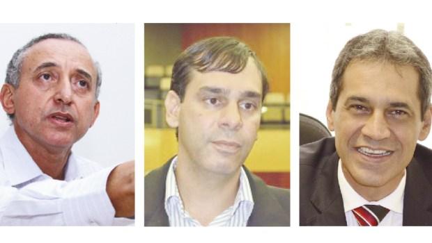 Anselmo Pereira, Welington Peixoto e Carlos Soares estão no jogo para a presidência da Câmara Municipal