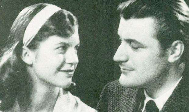 Sylvia Plath com o marido Ted Hughes, em 1956