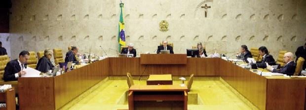 Sessão do STF que votou proibição de doação de empresas: ministro Gilmar Mendes pediu vistas do processo (Nelson Jr./SCO/STF)