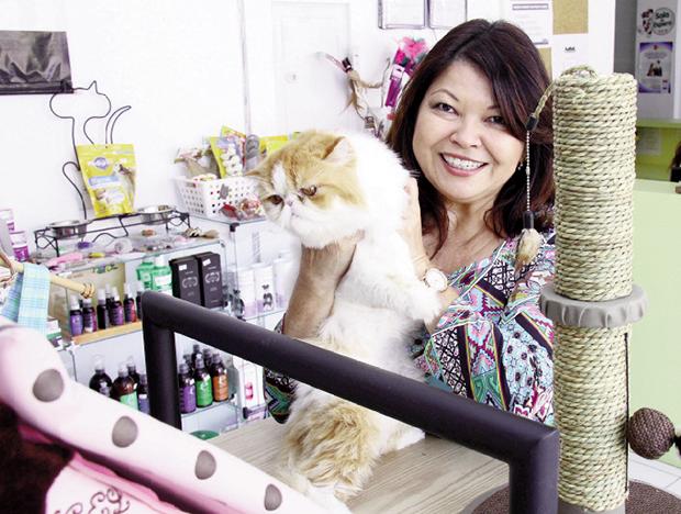 Empresária Sibelle Okano: nicho em pet shop voltado especialmente para gatos gera 30% de lucro Foto: Fernando Leite / Jornal Opção