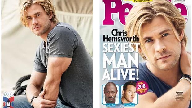 """Chris Hemsworth, o """"Thor"""", é eleito o homem mais sexy do planeta"""