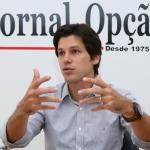 Deputado federal e presidente do PMDB Goiás, Daniel Vilela, em entrevista ao Jornal Opção | Foto: Fernando Leite/ Jornal Opção