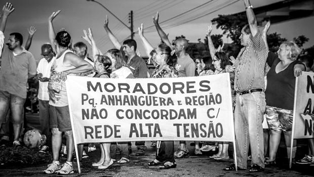 """Moradores vão a Brasília """"alertar"""" Eletrobras sobre instalação da rede de alta tensão no Macambira-Anicuns"""