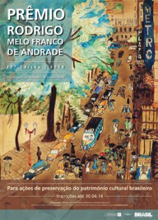 Cartaz do Prêmio Rodrigo Melo Franco de Andrade
