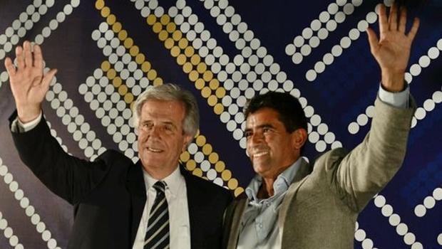 Tabaré Vázquez e o vice, Raúl Sendic, vencem no Uruguai