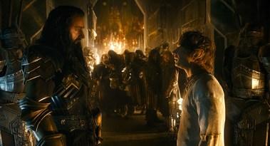 Thorin, o Rei Sob Montanha, e o hobbit Bilbo Bolseiro: a atuação dos dois é, possivelmente, a parte mais importante do filme, visto que é a partir de suas ações que a batalha do título se torna possível Foto: Warner Bros