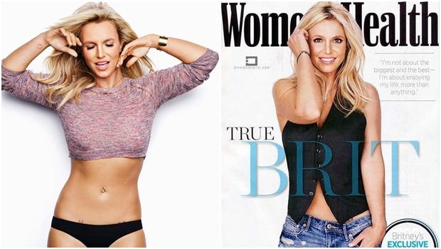 Britney Spears (ou seria Heidi Klum?) na edição de janeiro e fevereiro de 2015 da revista Women's Health | Fotos: reprodução / Women's Health