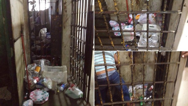 Lixo em celas de delegacias: insalubridade foi um dos problemas detectados | Foto: Divulgação/ MPGO
