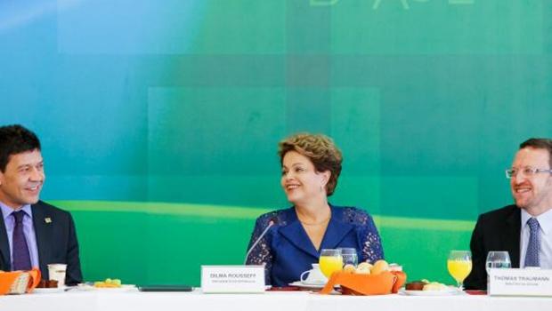 A presidente Dilma Rousseff, em café da manhã com jornalistas do Palácio do Planalto | Foto: Roberto Stuckert Filho/PR