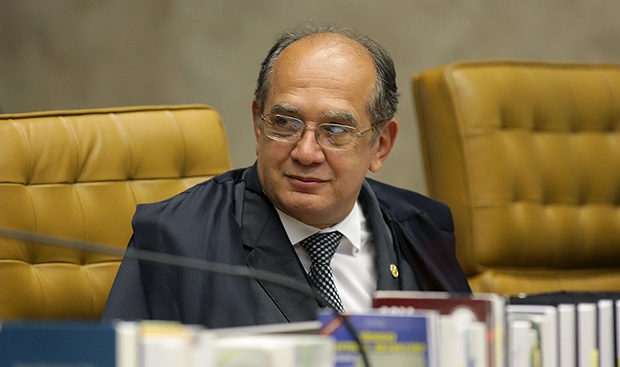 Ministro do STF Gilmar Mendes: relator dos dois processos que envolvem o PT com o dinheiro roubado na Petrobrás / Fellipe Sampaio/ SCO/STF
