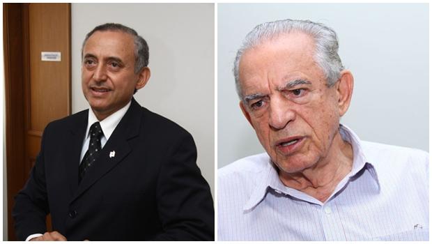 Tucano Anselmo Pereira se reúne com Iris Rezende no escritório político do ex-governador